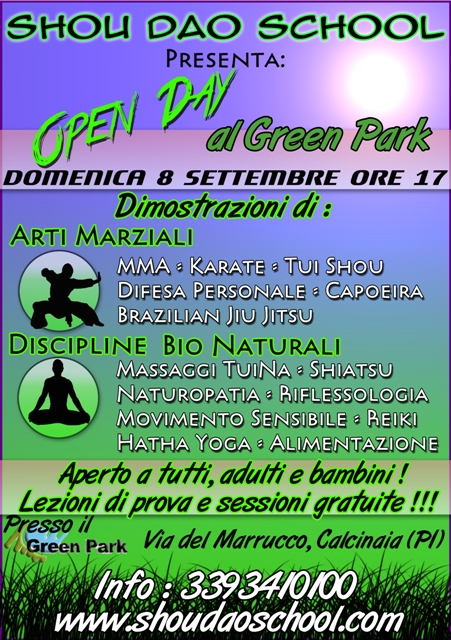 Open Day Green Park 8 settembre